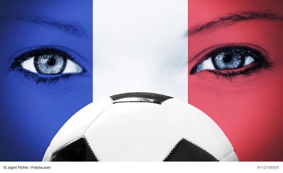 Fuball Fan in Frankreich