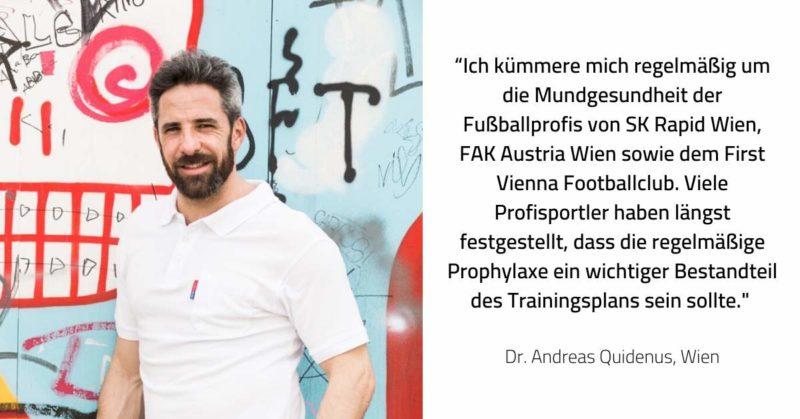 Zahnarzt Dr. Andreas Quidenus aus Wien informiert über die Gesundheit für Sportlerzähne.