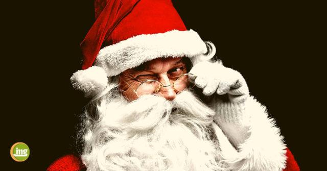 Nikolaus zwinkert mit Brille: Nascherei an Nikolaus und im Advent. So bleiben Kinderzähne gesund bei Information Mundgesundheit