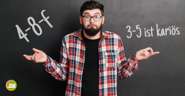Junger Mann versteht seinen Zahnarzt nicht – Information Mundgesundheit erklärt Zahnarztsprache.