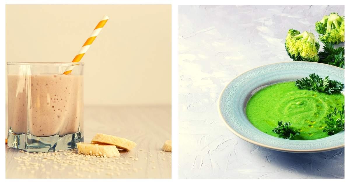 Rezepte: Bananen-Smoothie und Broccolie-Suppe